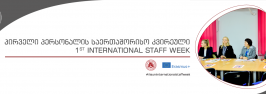 1st International Staff Week has been opened at Ilia State University