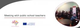 Meeting with public school teachers