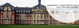 """Call for Applications - Joint PhD Program """"Democracy, Human Rights, and Religion"""""""