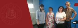 """Prof. Tamar Makharoblidze's visit to Georg-August-University of Göttingen within the frame of the joint project """"Structured Education – Quality Assurance – Freedom to Think"""""""