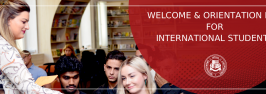 WELCOME & ORIENTATION DAY FOR INTERNATIONAL STUDENTS