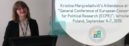 """Kristine Margvelashvili's Attendance at the """"General Conference of European Consortium for Political Research (ECPR)""""; Wroclaw, Poland; September 4-7, 2019"""