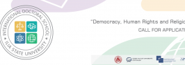 """""""Democracy, Human Rights and Religion"""" – Call for Applications"""