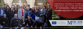 An intensive Training of Trainers course and a study visit within the framework of the ERASMUS + Project MEDIATS: TRAINING AND SOCIETY TRANSFORMATION