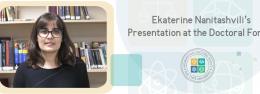 Ekaterine Nanitashvili's Presentation at the Doctoral Forum
