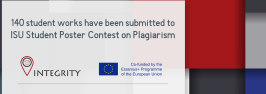 140 student works have been submitted to ISU Student Poster Contest on Plagiarism