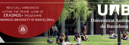 NEW CALL ANNOUNCED WITHIN THE FRAMEWORK OF ERASMUS+ PROGRAMME (AUTONOMOUS UNIVERSITY OF BARCELONA)