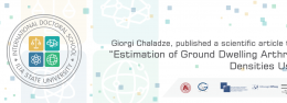 "Giorgi Chaladze  published a scientific article titled- "" Estimation of Ground Dwelling Arthropod Densities Using"""