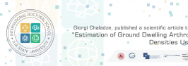 """Giorgi Chaladze  published a scientific article titled- """" Estimation of Ground Dwelling Arthropod Densities Using"""""""