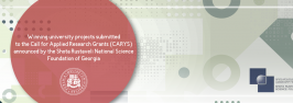 Winning university projects submitted to the Call for Applied Research Grants (CARYS) announced by the Shota Rustaveli National Science Foundation of Georgia