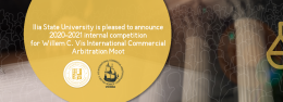 Ilia State University is pleased to announce 2020-2021 internal competition for  Willem C. Vis International Commercial Arbitration Moot