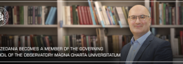 Giga Zedania becomes a member of the Governing Council of the Observatory Magna Charta Universitatum