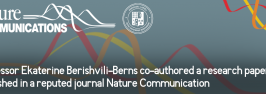 Professor Ekaterine Berishvili-Berns co-authored a research paper published in a reputed journal Nature Communication