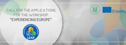 "Call for the applications for the workshop ""Experiencing Europe"""