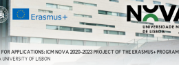 Call for applications: ICM NOVA 2020-2023 Project of the Erasmus+ Programme, NOVA University of Lisbon