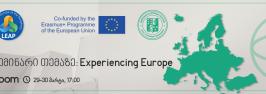 """სემინარი და პანელური დისკუსია თემაზე: """"Experiencing Europe"""""""