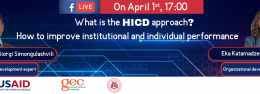What is the HICD approach?  How to improve institutional and individual performance