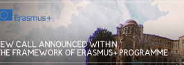 NEW CALL ANNOUNCED WITHIN THE FRAMEWORK OF ERASMUS+ PROGRAMME