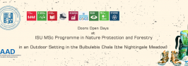 Doors Open Days at ISU MSc Programme in Nature Protection and Forestry – in an outdoor setting in the Bulbulebis Chala (the Nightingale Meadow)