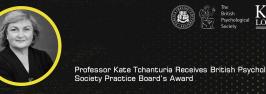 Professor Kate Tchanturia receives British Psychological Society Practice Board's Award